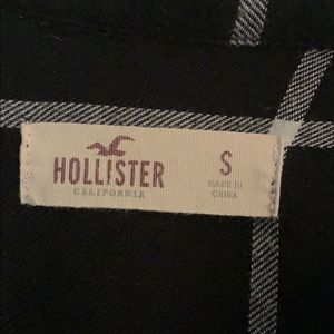 Hollister Tops - Black and white plaid shirt